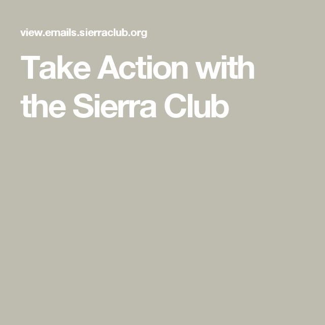Take Action with the Sierra Club