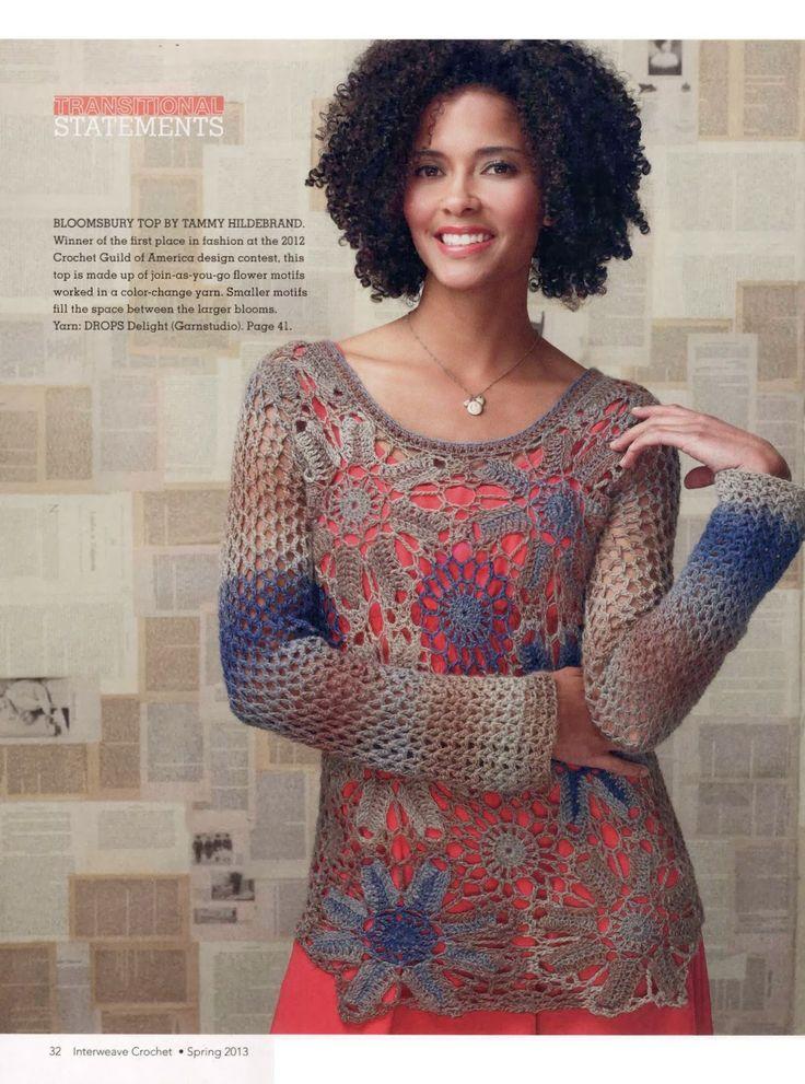 324 best Crochet ideas/ Horgolas images on Pinterest | Crochet tops ...