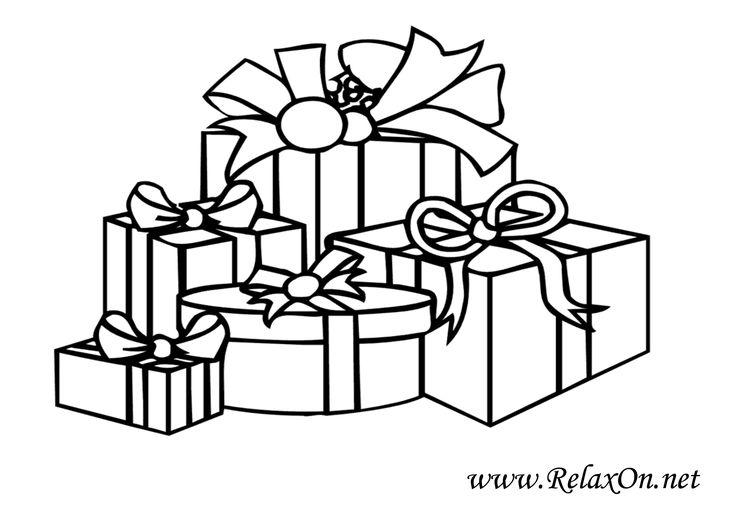 Раскраска новый год подарки | Раскраски для печати ...