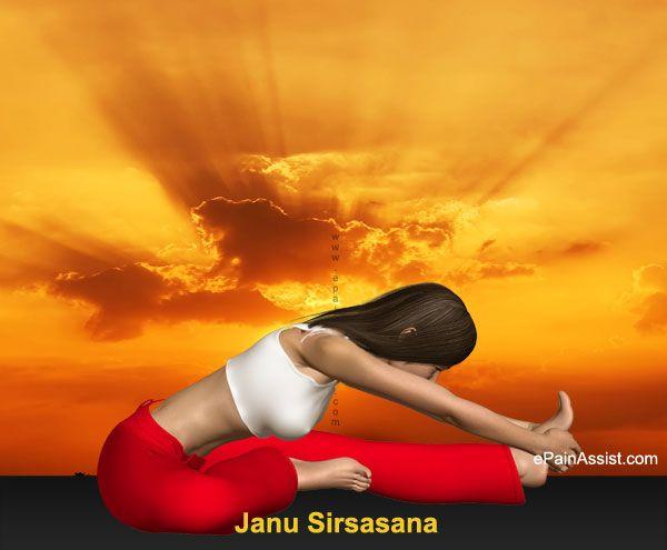 Head-to-Knee Forward Bending Pose or Janu Sirsasana to Help Overcome Sinusitis Infection