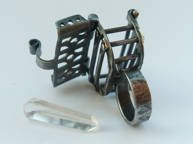 Cage Ring (2008, IT) Ring 108.6 by Blind Spot Jewellery