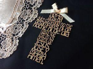 "Handcrafted ""Angel de la Guarda"" Wood Cross Prayer Wall Hanging Gift To Child    eBay"