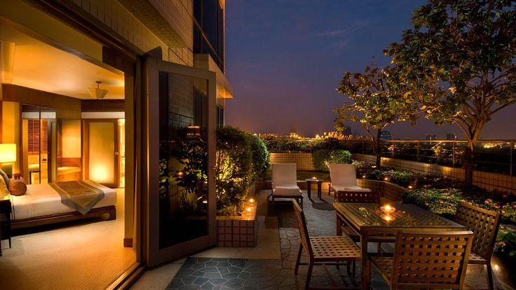 Terrace views at Conrad Bangkok hotel. http://www.kiwicollection.com/hotel-detail/conrad-bangkok