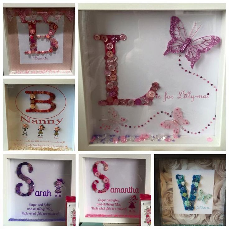 Button Letter Personalised Frame by CharliesButtonCrafts on Etsy