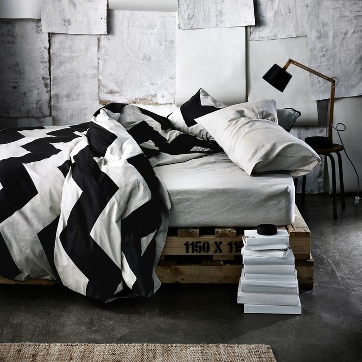 AURA Home, Winter 2014, Chevron Grande quilt cover in black.