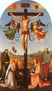 Christ on the Cross with the Virgin, Saint Jerome, Mary Magd...  by Raphael