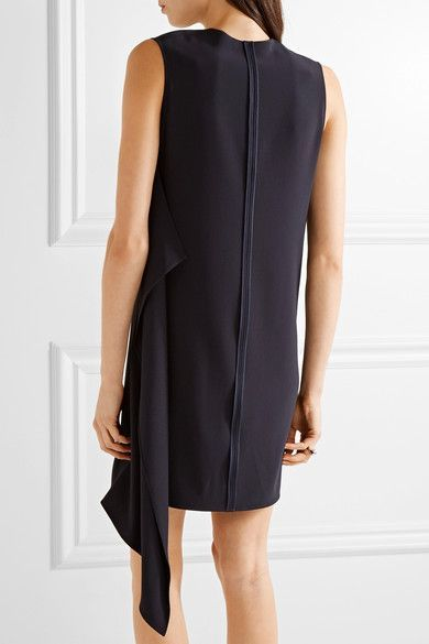 Helmut Lang - Asymmetric Crepe Mini Dress - Midnight blue - medium