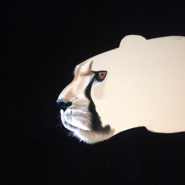 Painting up a cheetah for a book! #wip #digitalart #digitalpainting #animalart #animal #robart #robsnowcreative #cheetah #cat instagram   art   ideas   follow