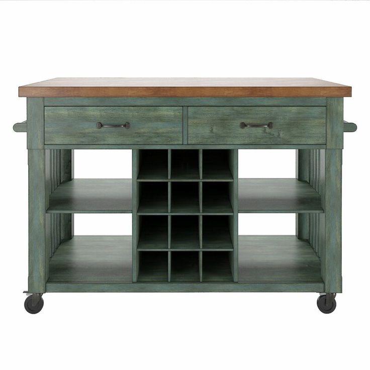 Gracie Oaks Belfield Wood Metal Kitchen Cart Kitchen Cart Kitchen Design Kitchen Dining Furniture
