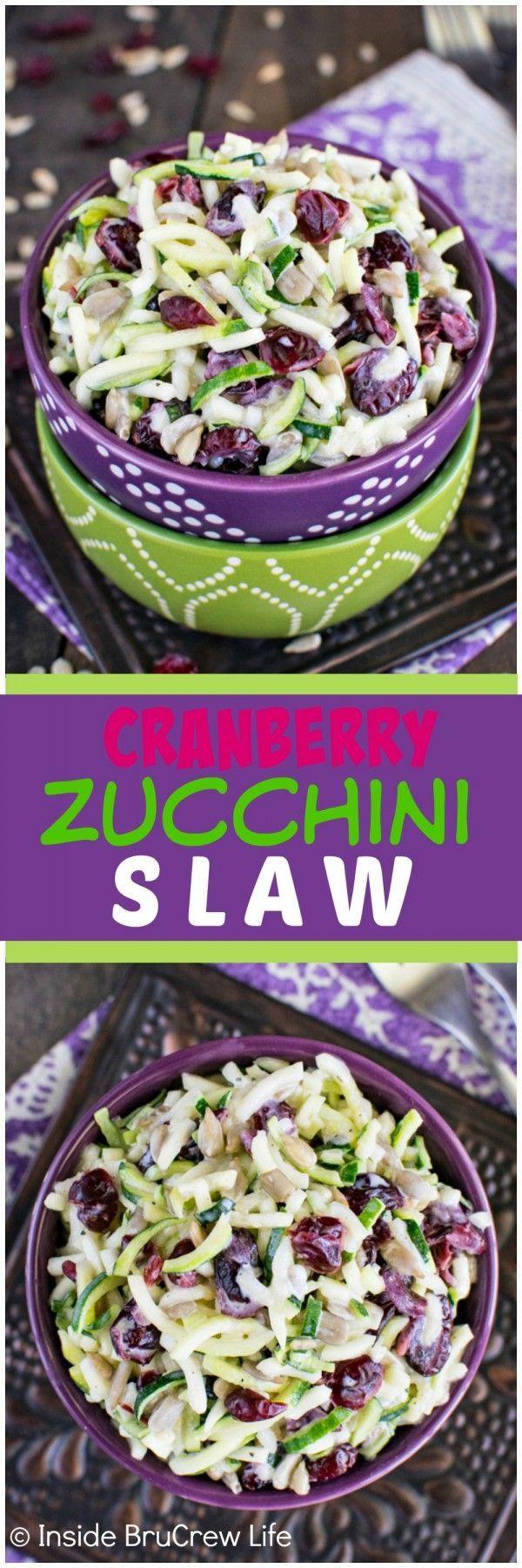 Blue apron zucchini slaw - Cranberry Zucchini Slaw