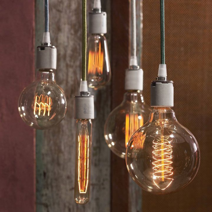 Generate a warm glow at a low light level with these early Edison style bulbs. & 29 best lighting images on Pinterest | Ceilings Children and Cottage azcodes.com