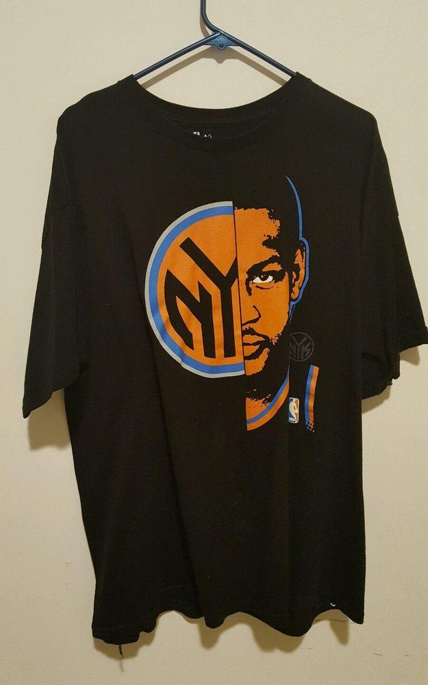NEW YORK KNICKS CARMELLO ANTHONY FACE MAJESTIC T SHIRT SIZE MENS 2XL  #adidas #NewYorkKnicks