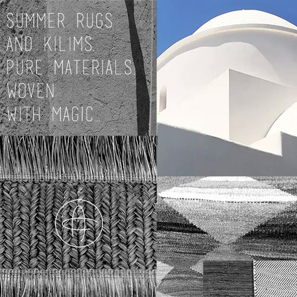 Summer magic | Πλούσια συλλογή από καινοτόμα υλικά για τον εσωτερικό ή εξωτερικό χώρο υφασμένα με μαγεία, παραδοσιακά ή βιομηχανικά, ώστε να καλυφθούν όλες οι σύγχρονες αισθητικές και πρακτικές ανάγκες στο αστικό ή εξοχικό περιβάλλον. | A large selection of cutting-edge materials for the indoor or outdoor, weaved with magic in traditional or industrial styles to cover all city or country habitat esthetic and practical requirements.