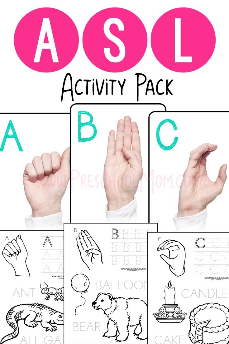 Our Asl Abc Ebook Is Filled With Printable Resources You Can Use To Create  Hands On