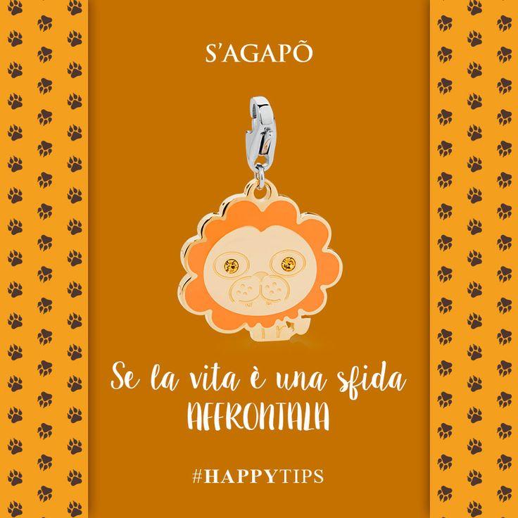 Se la vita è una sfida affrontala #HappyTips #happy #charms #gioielli #ciondoli #quote #citazioni