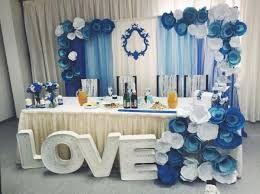 Resultado de imagen para синий морской волны цвет украшения стола