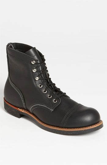 Free shipping and returns on Red Wing 'Iron Ranger' Cap Toe Boot (Online Only) at Nordstrom.com. Styled after the footwear worn by miners in the Mesabi Iron Range, a ruggedly cool boot features a quad-stitched toe cap and lustrous chrome hardware to accent its durable leather construction.