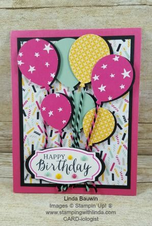 Balloon Celebration Bundle Earn $100 in Free Stampin' Up! Product of your choice during my countdown to the First Million Dollar Linda With Stampin' Up! Linda Bauwin CARD-iologist Helping you create cards from the heart.