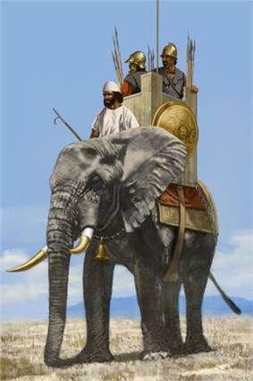 Carthaginian war elephant, artwork by J. Shumate. Hannibal's war elephants: http://www.history.com/topics/ancient-history/hannibal/videos/hannibals-war-elephants