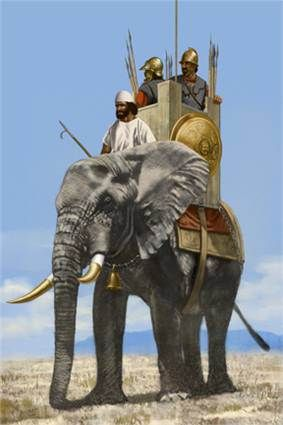 Carthaginian war elephant, artwork by J. Shumate. Hannibal's war elephants: http://www.history.com/topics/ancient-history/hannibal/videos/hannibals-war-elephants