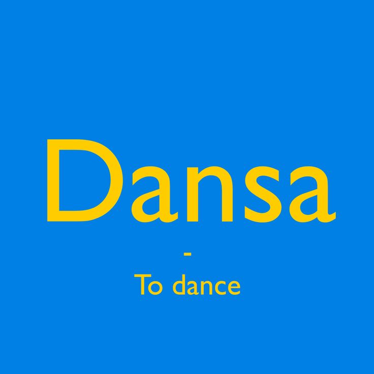 Dansa [²dạn:sa] - To dance. Learn a Swedish word every day!  Get inspired and #pratasvenska ! #swedish #words #svenska #learnswedish