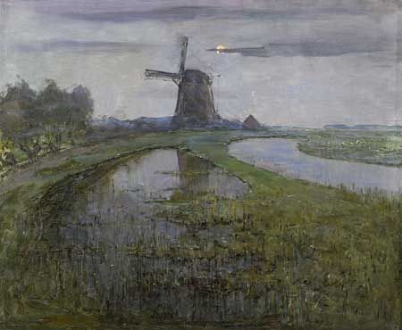 Piet Mondriaan, The Oostzijde windmill on the Gein near Abcoude, ca. 1903. Amsterdam, Rijksmuseum