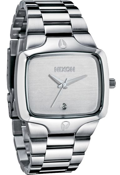 Nixon The Player Silver Watch - On Sale at Watchismo.com
