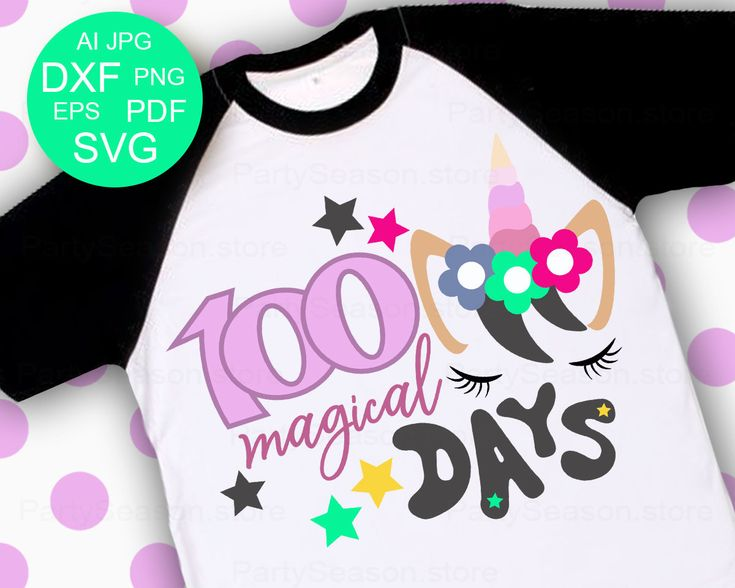Excited to share the latest addition to my #etsy shop: Cute Unicorn svg 100 Magical Days svg School svg files Girls svg 100 days Svg Eps Dxf Ai Pdf Png 100th day of school svg 100 days shirt http://etsy.me/2nbojh4 #supplies #pink #babyshower #kidscrafts #green #silhoue