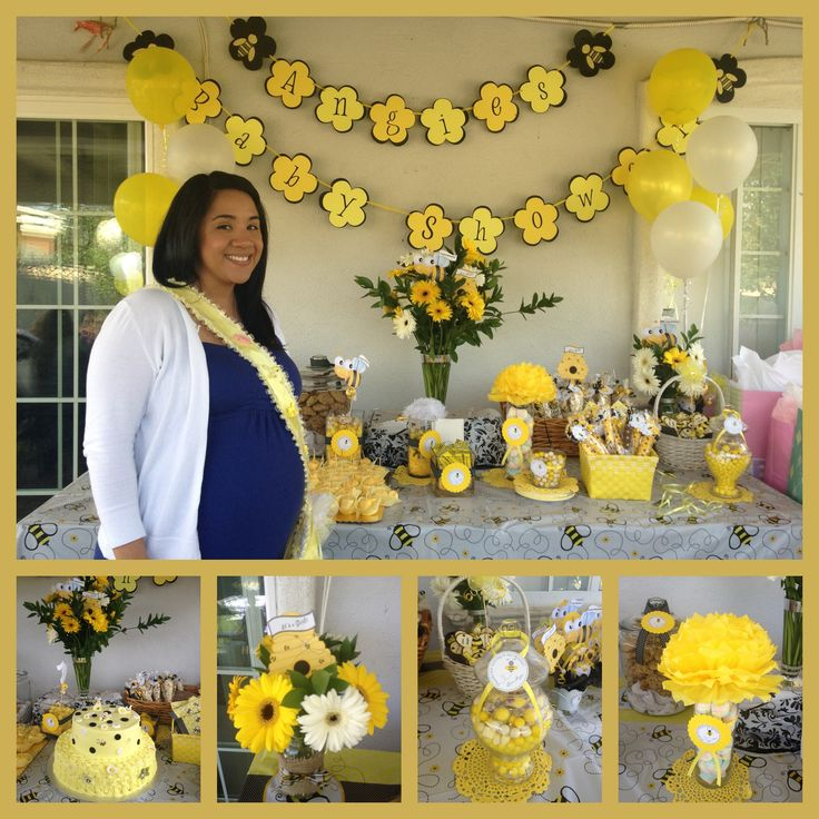 Angie 39 s baby shower bee theme sandrukesinc pinterest for Dekoration fur babyparty