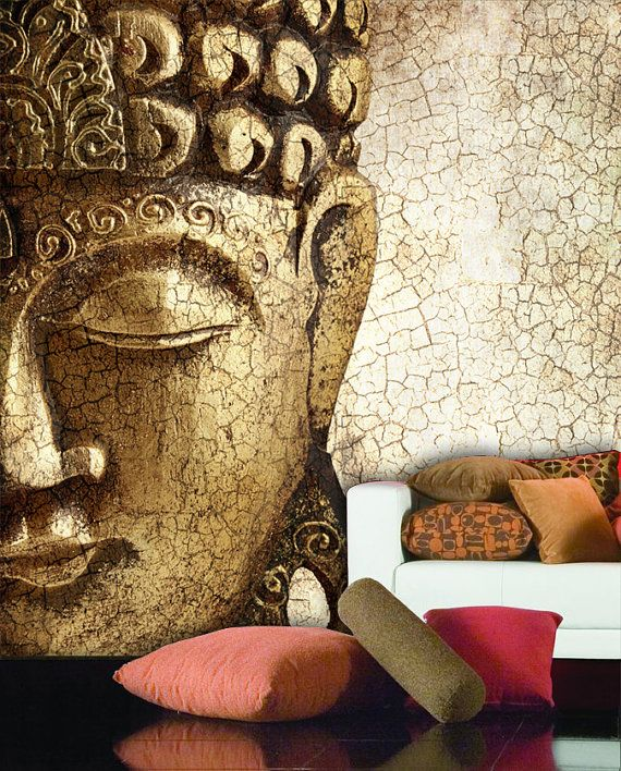 Buddha wall mural Repositionable peel and stick by StyleAwall