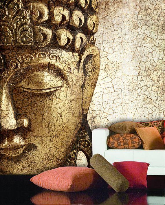 Buddha Wand Wandbild repositionierbar schälen und von StyleAwall