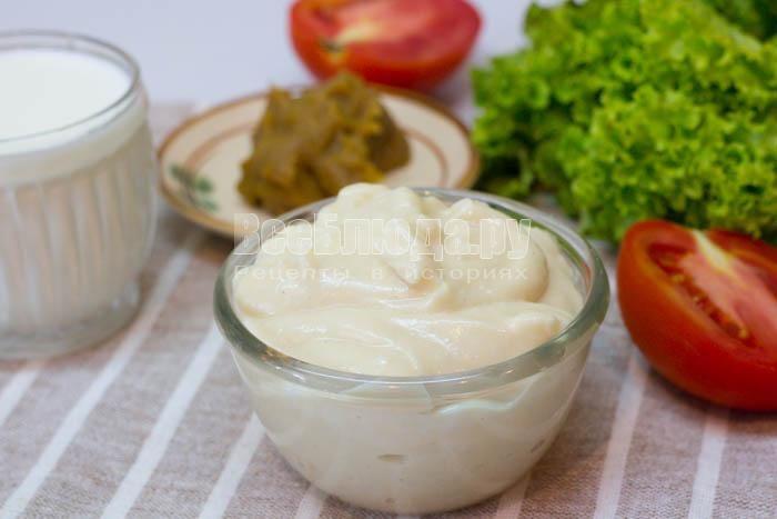 Молочный майонез (без яиц)