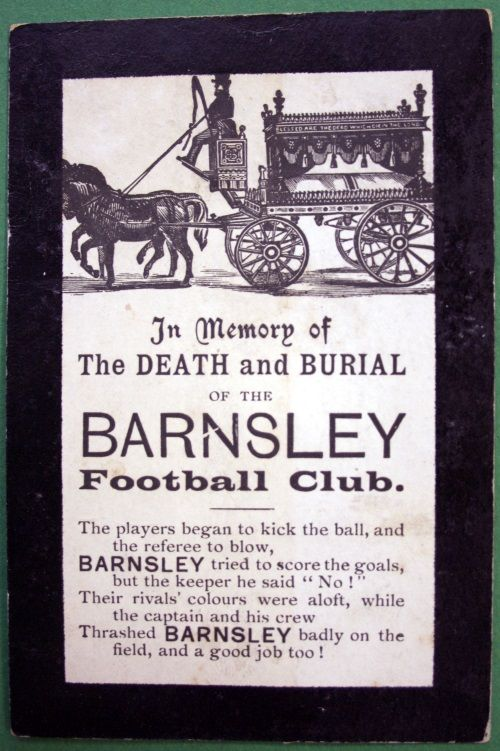 #Barnsley FC memorial postcard - turn of the century football banter #BFC #Tykes