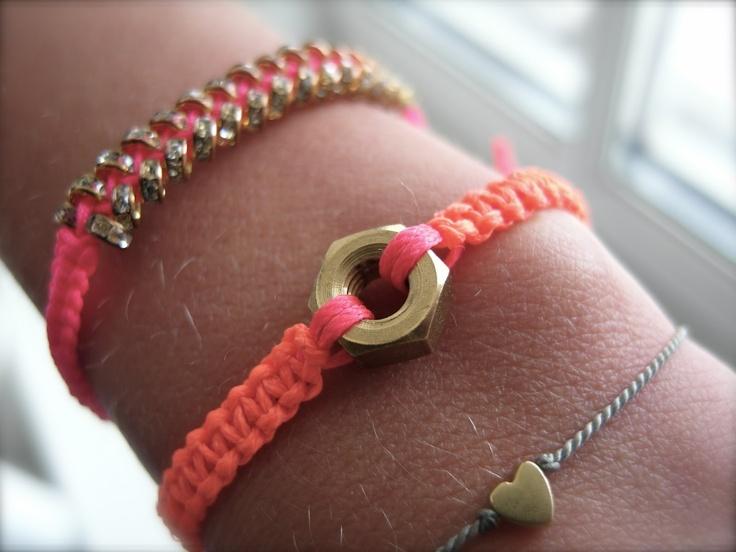 hex nut jewelry | petite étoile: ANOTHER KIND OF HEX NUT BRACELET