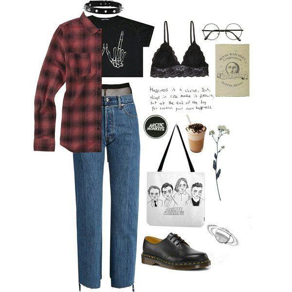 #grunge #outfit #urban #rock #punk #alternative #style -A