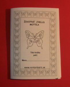 Životný cyklus motýľa - knižka