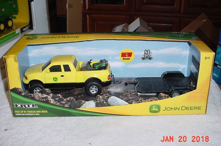 ERTL John Deere 2005 Ford F150 4x4 Truck Lawn Mower & Trailer 1/25 Diecast 37012 #ERTL #Ford