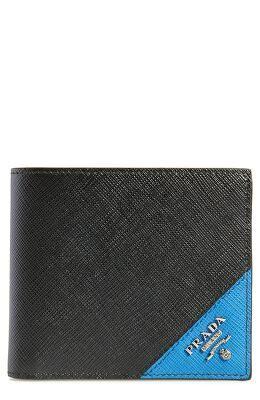 ddca0633f3b PRADA Designer Saffiano Leather Billfold Wallet   Men > Accessories > Wallets  Cardholders > Wallets   Billfold wallet, Wallet, Prada saffiano