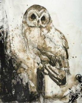Schilderij Bos Uil 80x100 | Schilderijenshop