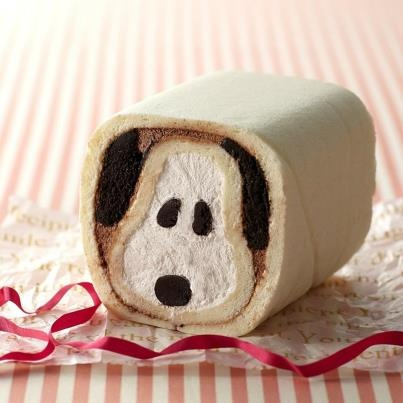 Snoopy cake roll
