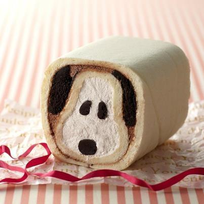 Snoopy cake roll
