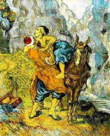 Vincent Van Gogh  Le Bon Samaritain Qui est mon prochain? Une question qui ne perd pas de son actualité!! ... ...tout comme la parabole même du Bon Samaritain, qui à travers les âges, interroge ...