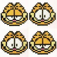 Garfield perler beads by an.co.chan
