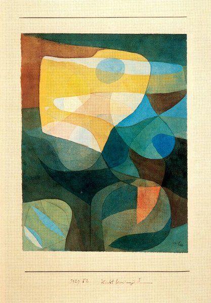 Paul Klee >> La ampliación de la luz-I   (, obra de arte, reproducción, copia, pintura).