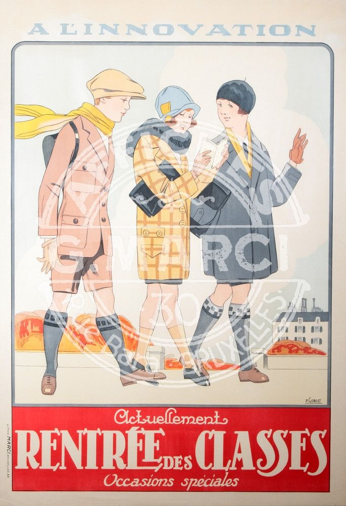 Innovation Imprimée à l'imprmerie Marci Bruxelles. 1925 Belgique Artiste Pol Goblet