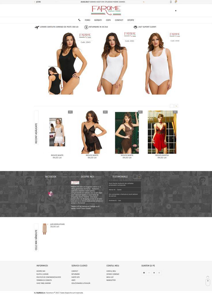 Magazin Online imbracaminte si lenjerii dama. Create de www.adymedia.ro