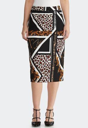1de3b77e7f Plus Size Status Animal Pencil Skirt Skirts Cato Fashions in 2019 ...