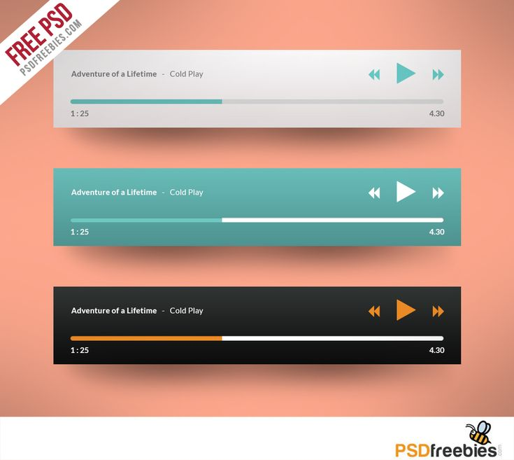 Nice Media player Application Flat Design Free PSD. Download Media player Application Flat Design Free PSD. This freebie PSD file with shape layers and layer effects and 3 different color schemes. Completely customizable. Media player Application Flat Design Free PSD is a great starting point for creating your own custom music and video player. Hope you like it. Enjoy!