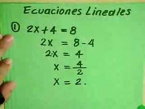 ecuaciones lineales faciles - Buscar con Google