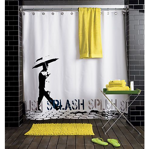 Splish Splash Shower Curtain, $39.95 | 30 Weird And Wonderful Shower Curtains